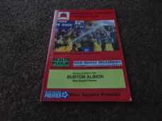 Eastbourne Borough v Burton Albion, 2008/09